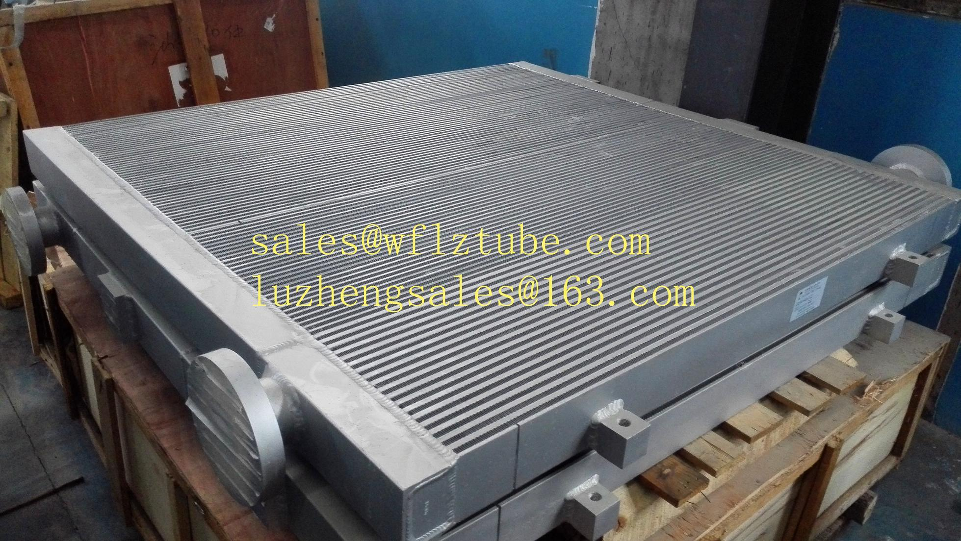 China Shandong Aluminum Fin Tube Radiator for Cooling Oil or Air