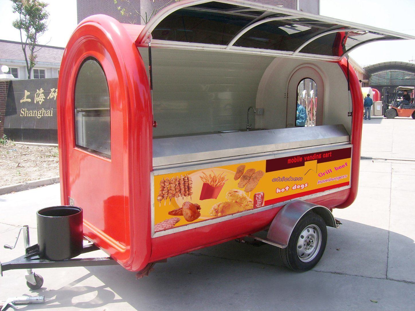 Yieson Mobile Food Trailer Fast Food Mobile Kitchen Cart Trailer