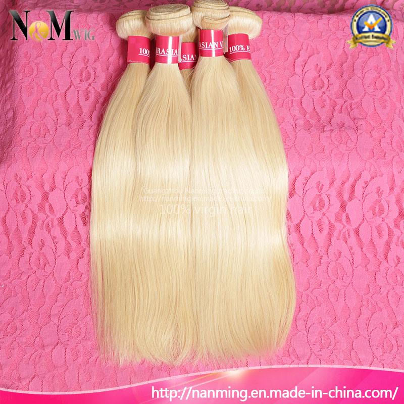 European Russian Blonde Human Hair / Keratin Straight Russian Hair