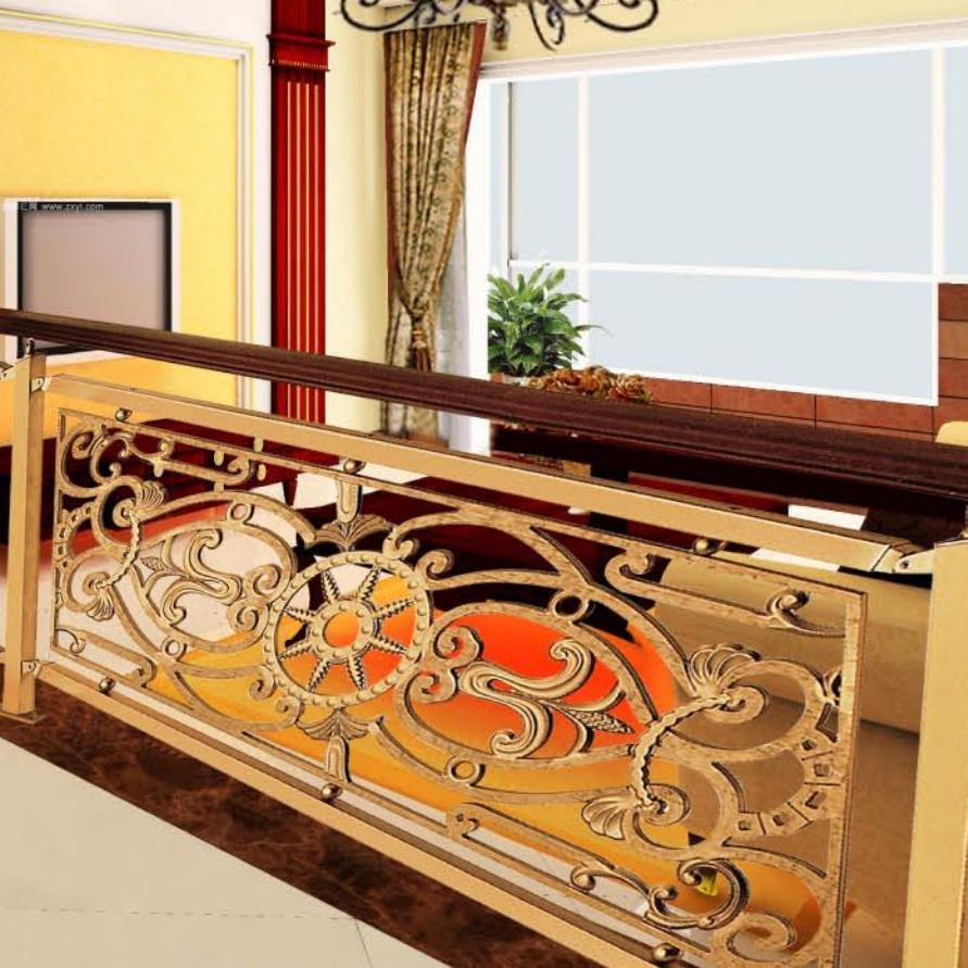High-Quality Hotel Villa Interior European Style Staircase Guardrail