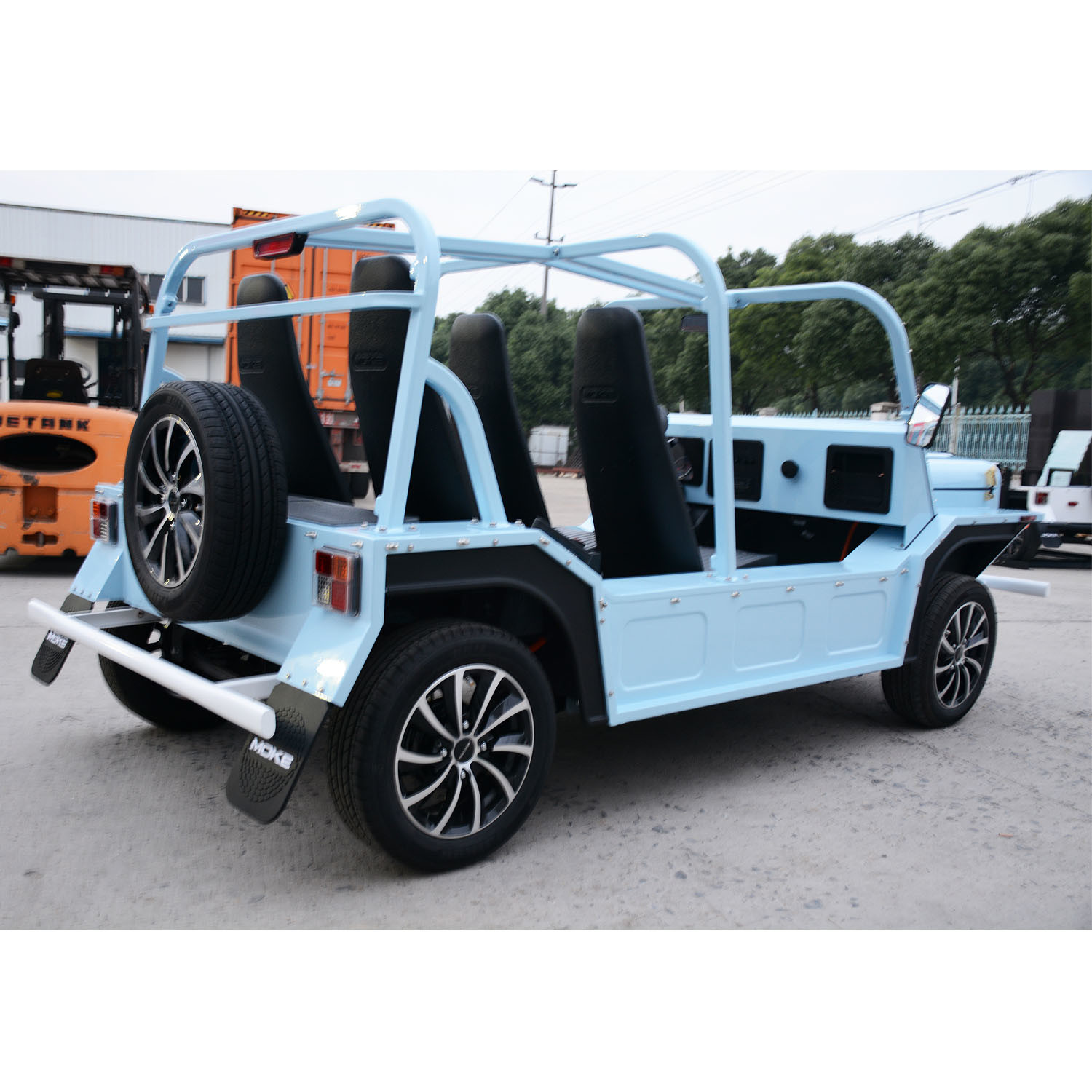 150 Km Endurance Mileage Electric Tourist Coach Sightseeing Car