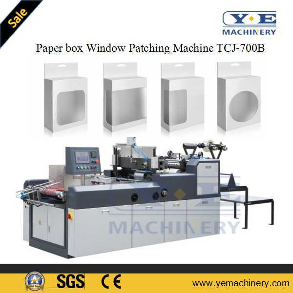 PLC Control Carton Window Film Patching Machine with Angle Cutting