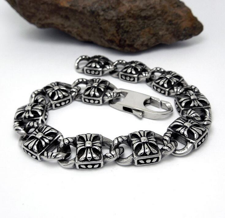 Silver Color Men Link Bracelets Fashion Accessory Stainless Steel Jewelry