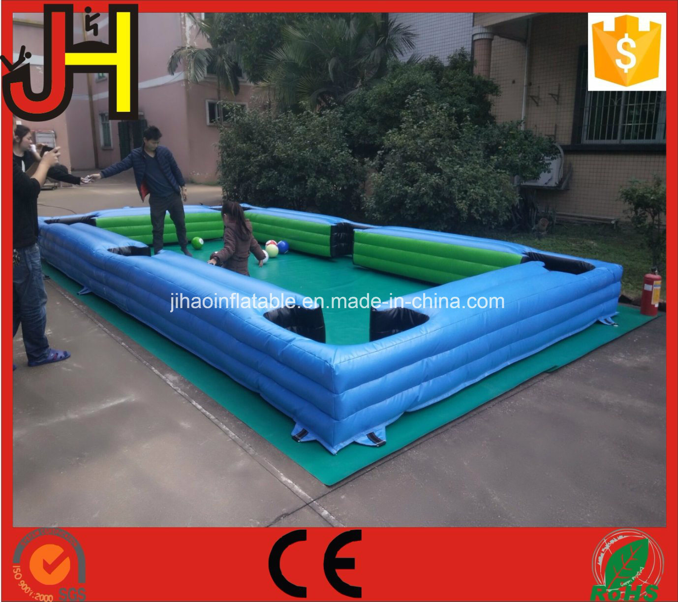 Inflatable Snooker Ball Game, Inflatable Foot Pool, Football Pool Table