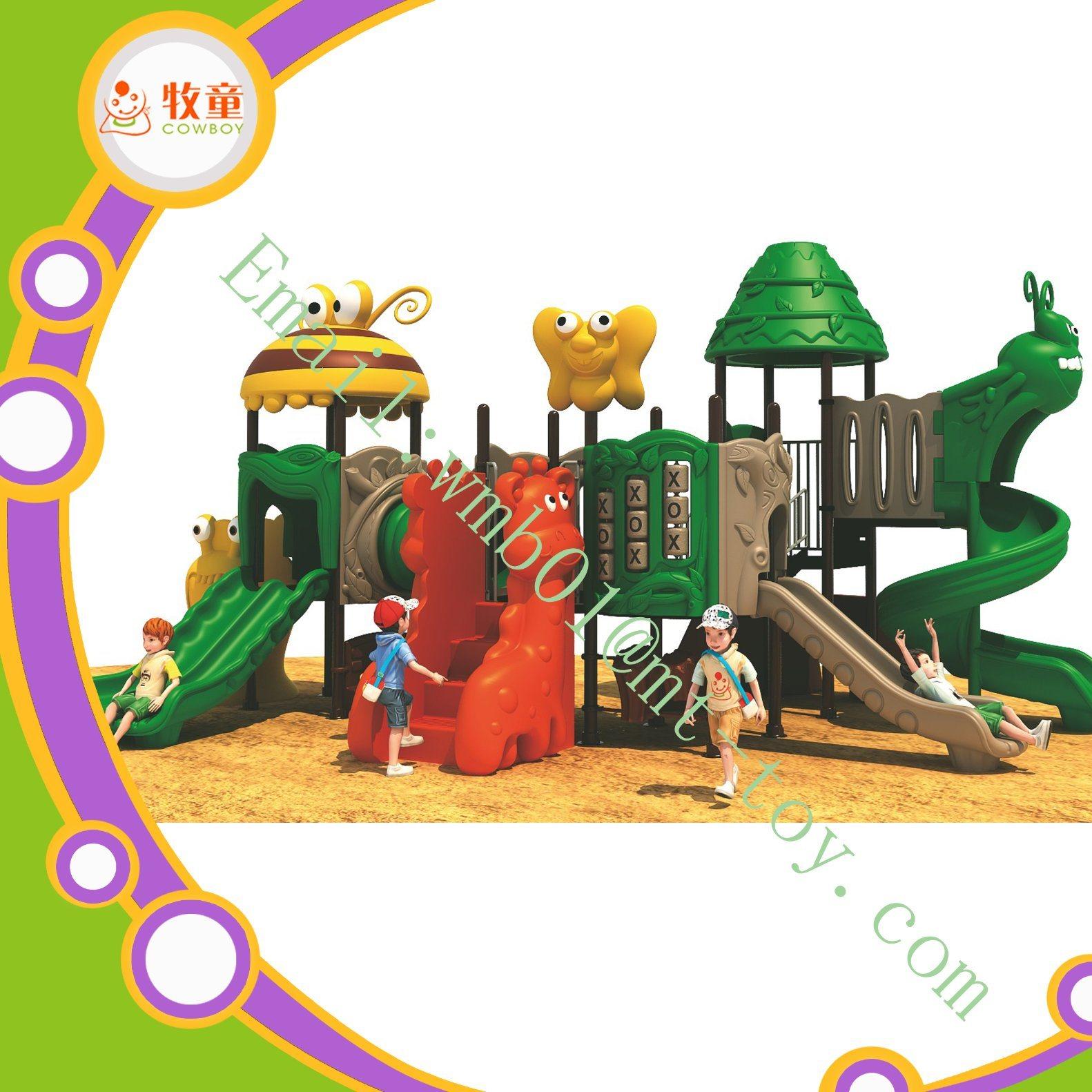 Plastic Outdoor School Playground Slide for Kids