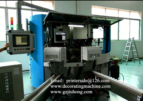 Full Servo 3 Color Rotary Screen Printing Machine