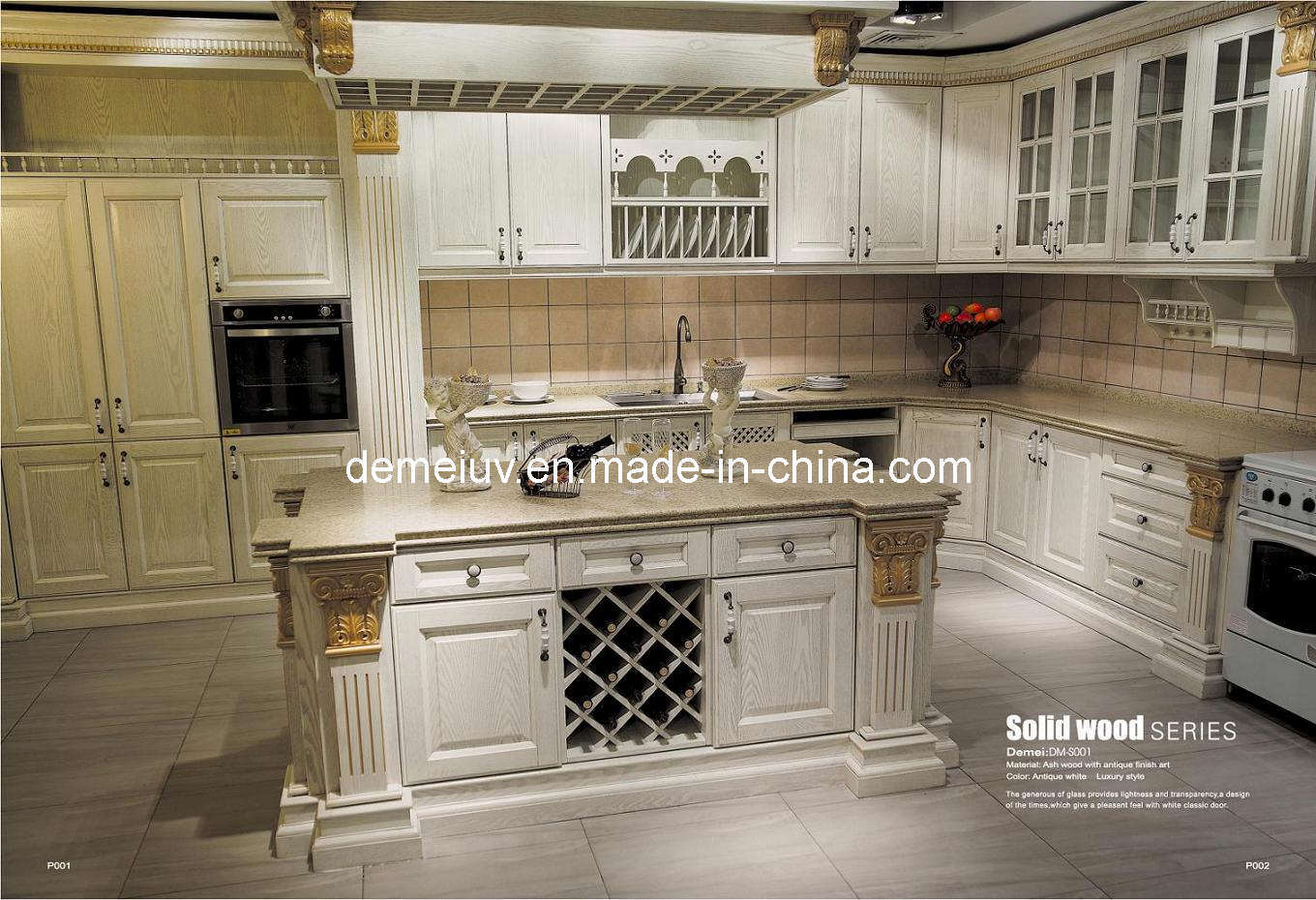 kitchen furniture kitchen cabinet antique style solid wood dm s001