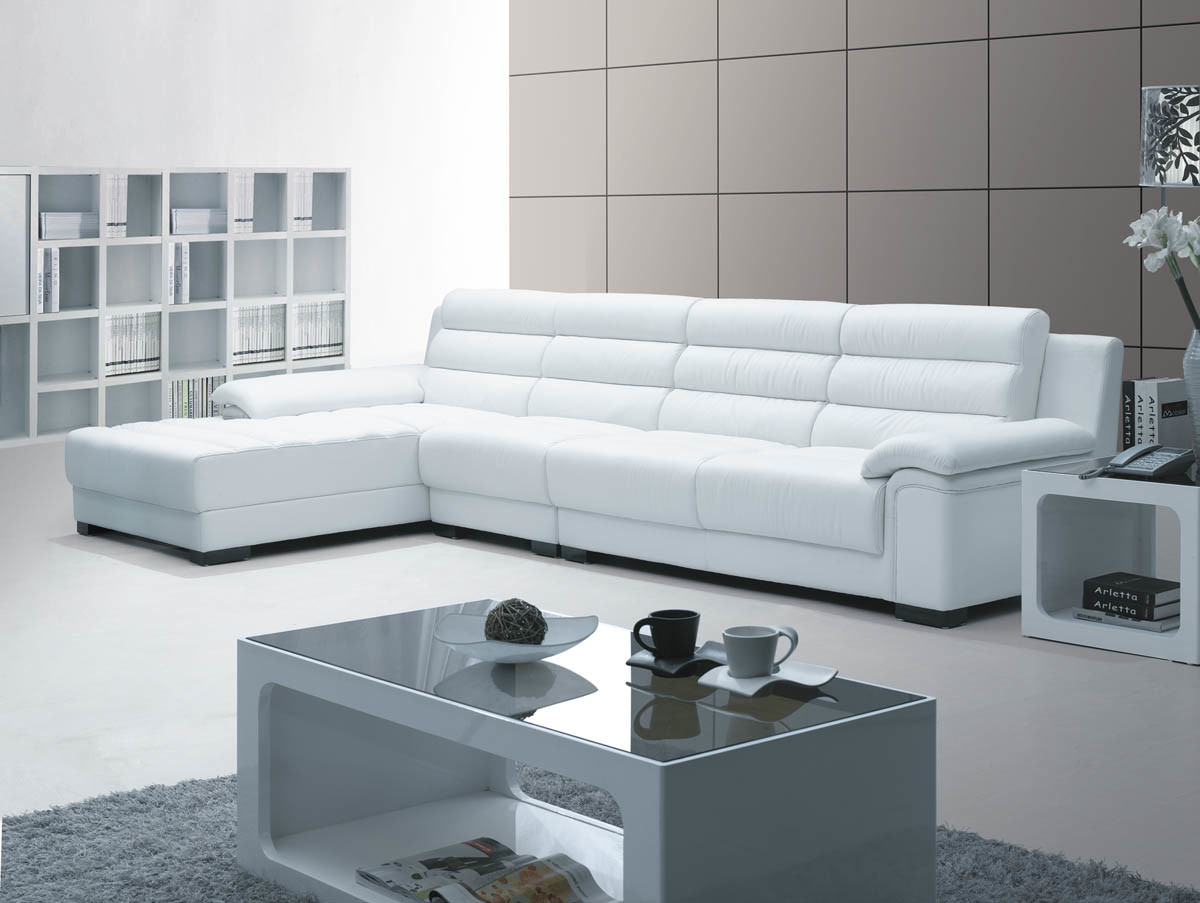 China sofa modern sofa leather sofa k 809 china sofa - Sofa piel blanco ...
