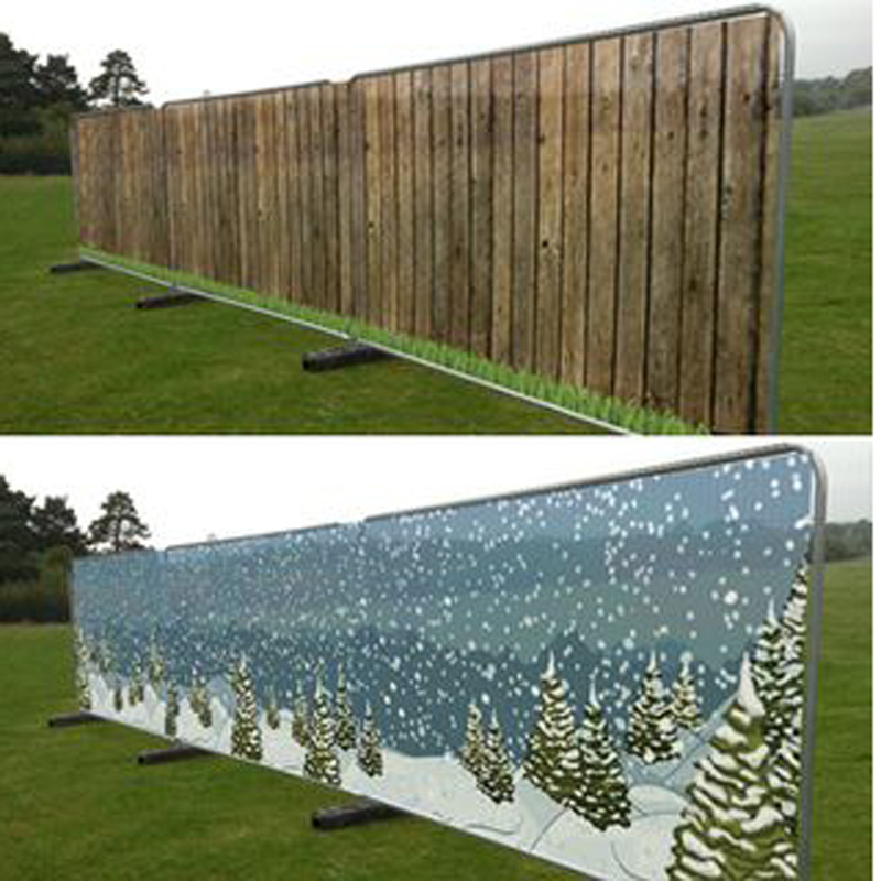 Lowest Price Huge Tight Weave Design Economical PVC Rolled Fence Mesh Banner