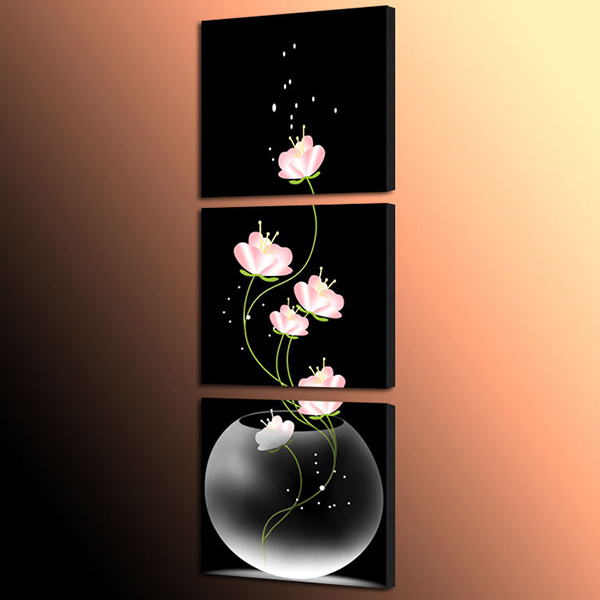 3 Piece Hot Sell Modern Wall Painting Flowers Painting Room Decor Wall Art Picture Painted on Canvas Home Decoration Mc-216