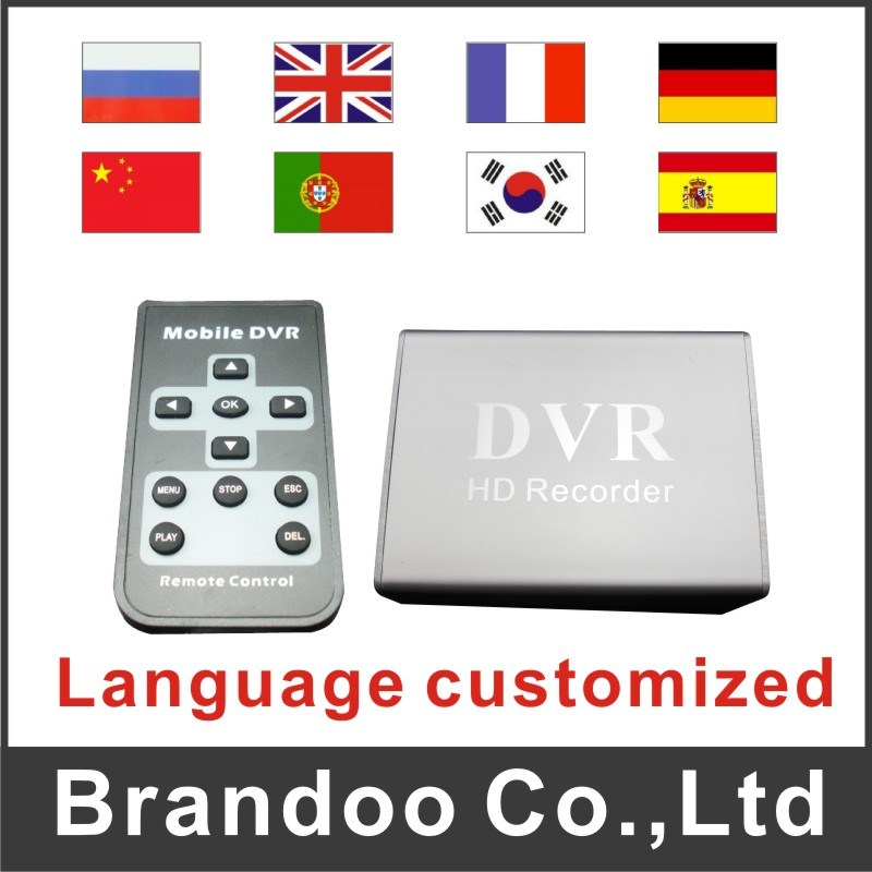 Language Customized CCTV DVR with Mini Size, Works with 64GB SD Memory