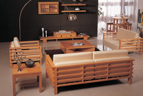 Home design wood living room for Wooden living room furniture