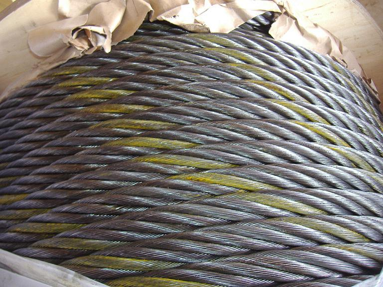Greased Coated Ungalvanized Steel Wire Rope (6X25fi+FC / 6X29fi+FC)
