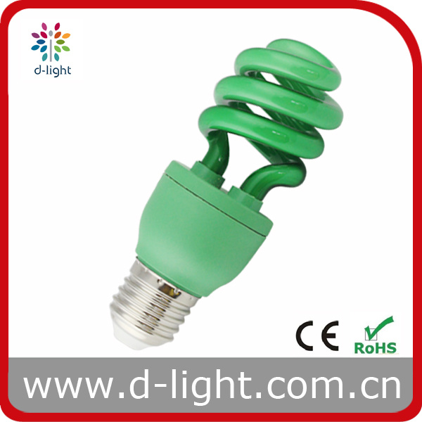 Green Colored Half Spiral Compact Fluorescent ESL