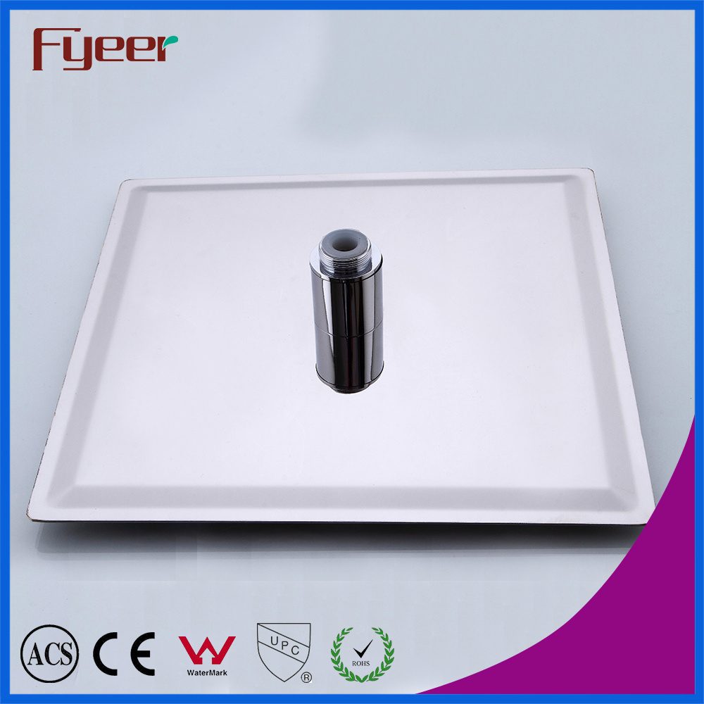 Fyeer Ultraslim 8 Inch Chrome Plated 304 Stainless Steel Shower Head LED Shower