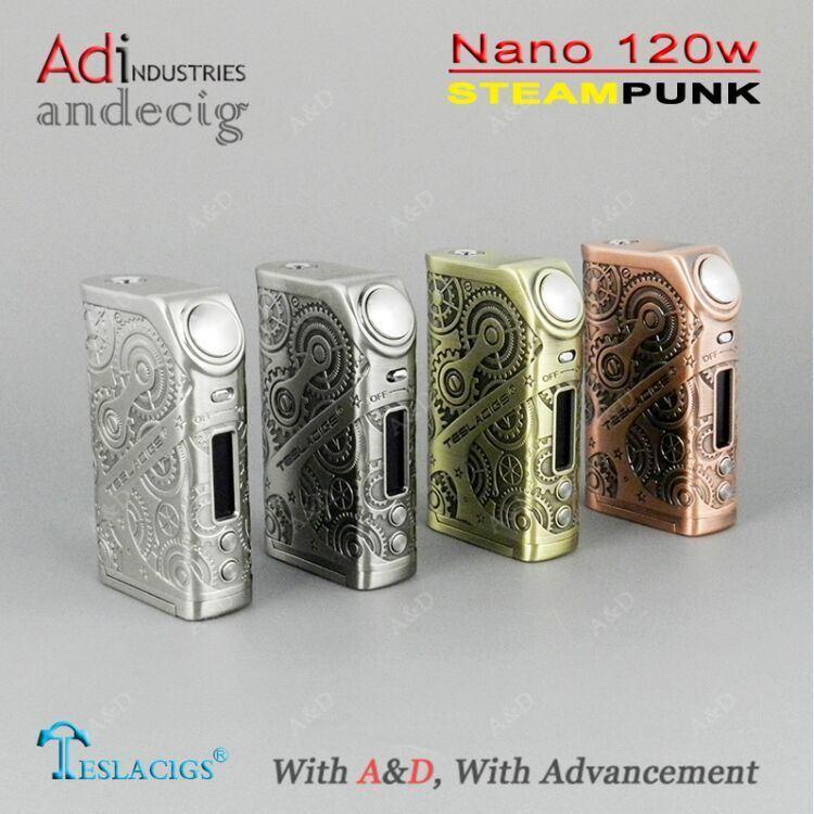 Health E-Cigarette Mods 2017 Tesla Nano 120W Tc E-Cigarette Box Mod 120W Ecigarette Mod