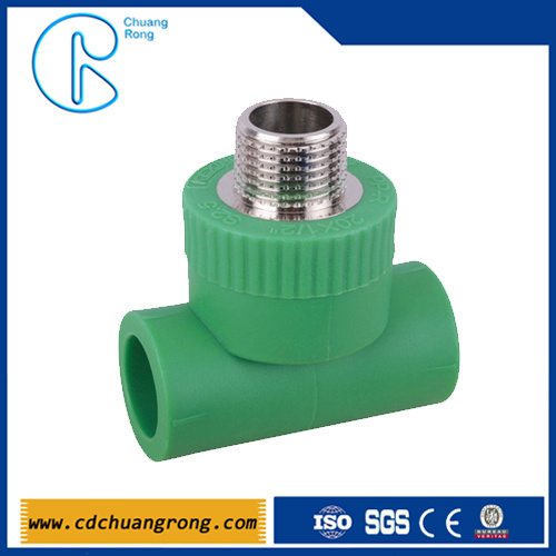 Pn16 Sanitary Pipe Fittings PPR Male Threaded Tee