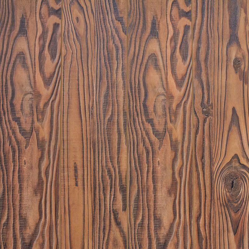 V Goove at Four Side Paint Synchronized Vein Laminate Flooring 7706