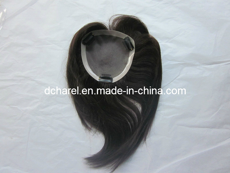 100% Human Virgin Hair Toupee for Women