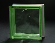 190*190*80mm Green Cloudy Glass Block with AS/NZS 2208