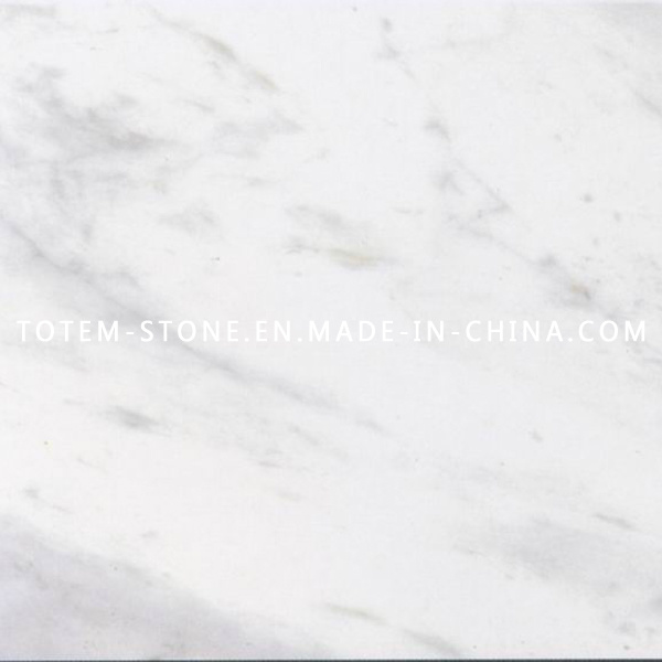 Natural White Carrara Stone Marble for Tile, Slab, Countertop