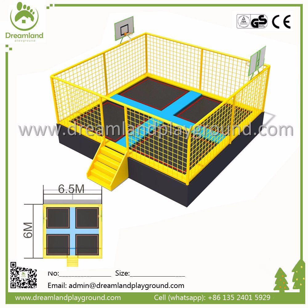 Customized Design Outdoor Trampoline Sports Indoor Trampoline Park with Safety Net