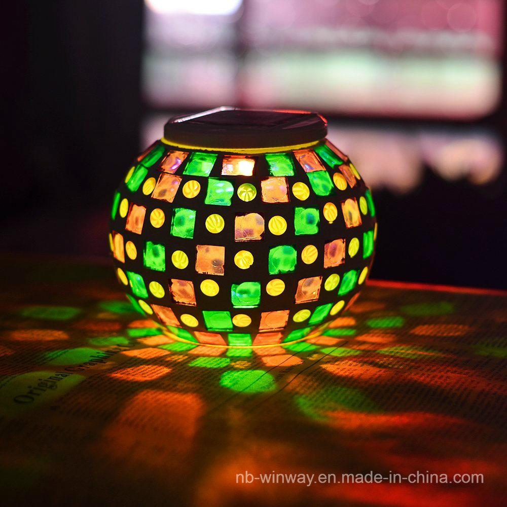Solar Glass Mosaic Solar Indoor Light