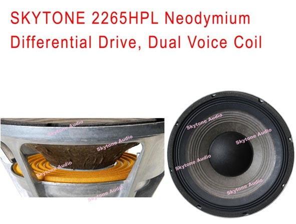 15′′ 2265HPL Neodymium Dual Voice Coil Speaker Woofer