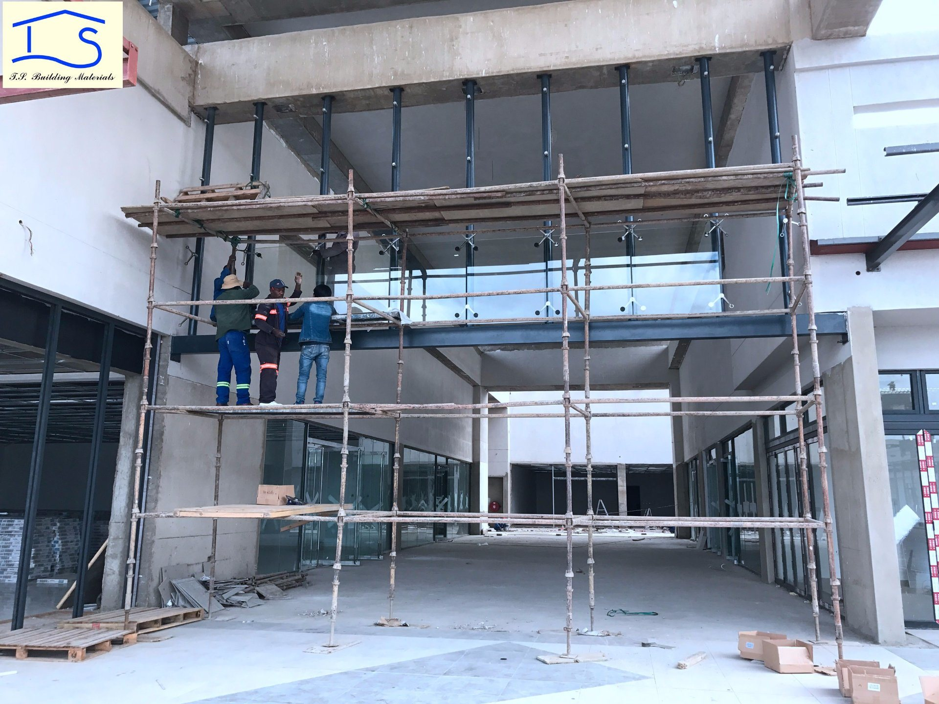Moden Architecture Exterior Facade Point Fixing Glass Panel Curtain Wall System