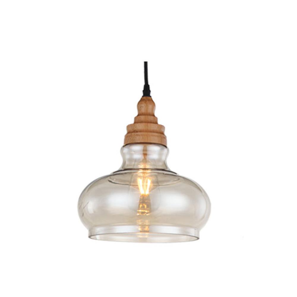 Orizeal American Antique Rustic Style Restaurant Vintage Clear Glass Pendant Lamp Oz-Al537