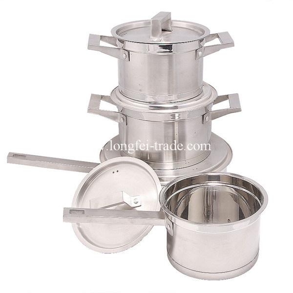 7PCS Stainless Steel Cookware Set, Pot Set, Soup Pots