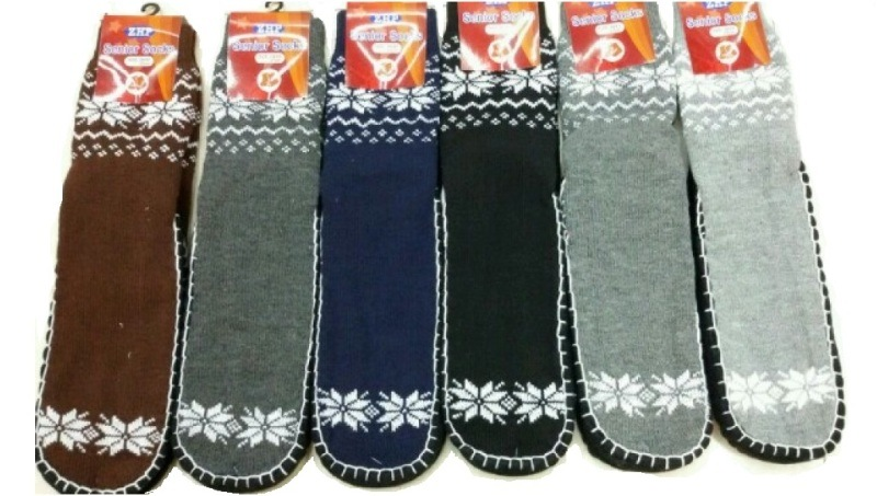 Men Knitted Anti-Slip Christmas Floor Socks Factory Manufacturer