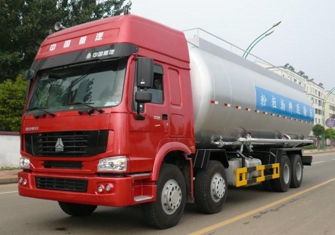 HOWO 8X4 336HP Heavy Duty Bulk Cement Tank Truck