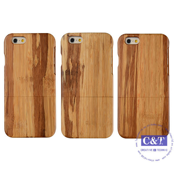 Natural Wooden Hard Bamboo Wood Case for iPhone 6 Plus