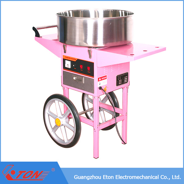 ETL&CE Approved Electric Candy Floss Machine with Cart and Cover