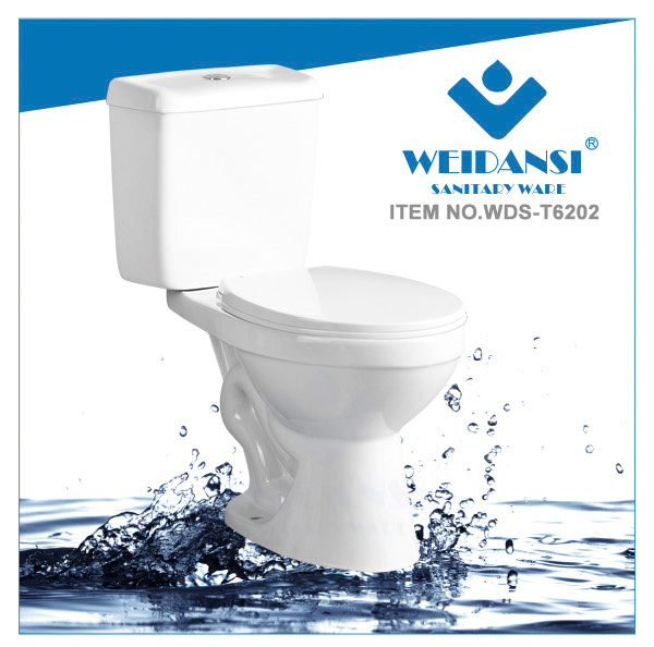 Weidansi Ceramic Wash Down S-Trap Siphonic Toilet (WDS-T6202)