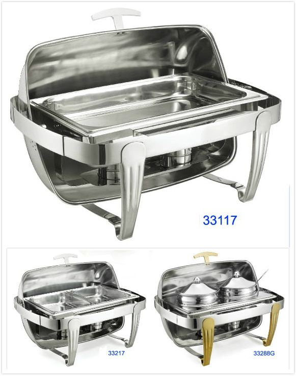 china full size roll top chafing dish set for buffet and restaurant china chafing dish buffet. Black Bedroom Furniture Sets. Home Design Ideas