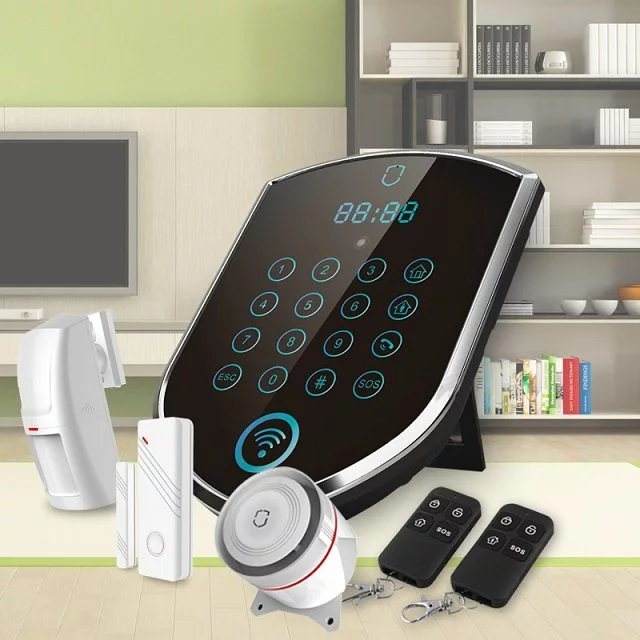 GSM Home Burglar Alarm Inner Siren and Alarm Sound Alarm Phone Numbers (3G or 2G) ; 5 PSTN Alarm Numbers; 3 SMS Numbers;