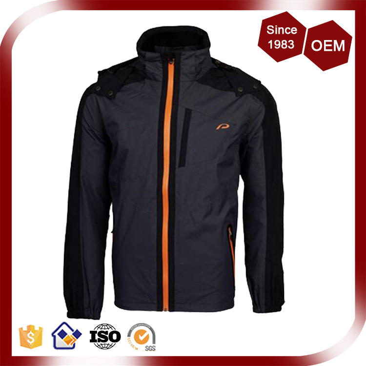 Men Waterproof Breathable Nylon Outdoor Rain Jacket
