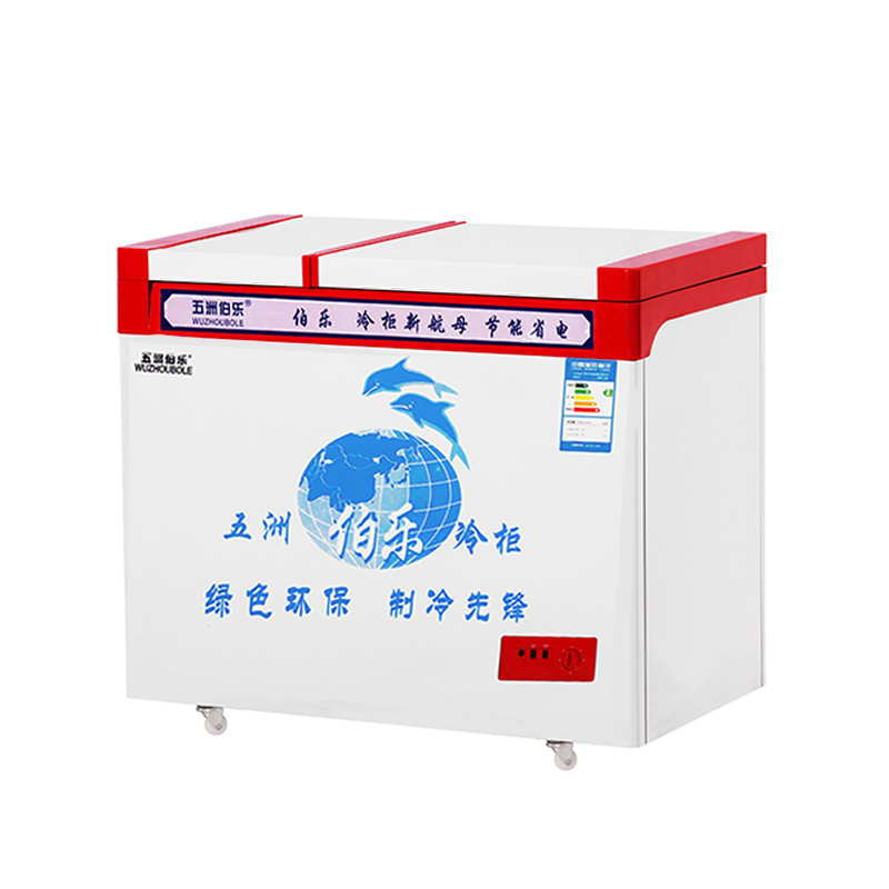 Large Frozen Small Refrigeration Top Open Door Direct Cooling Freezer