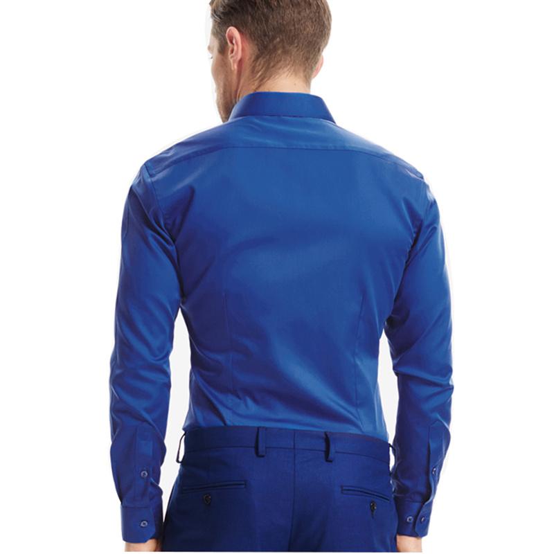 2016 Men′s Slim Fit Hot Fashion Dress Silk Shirt