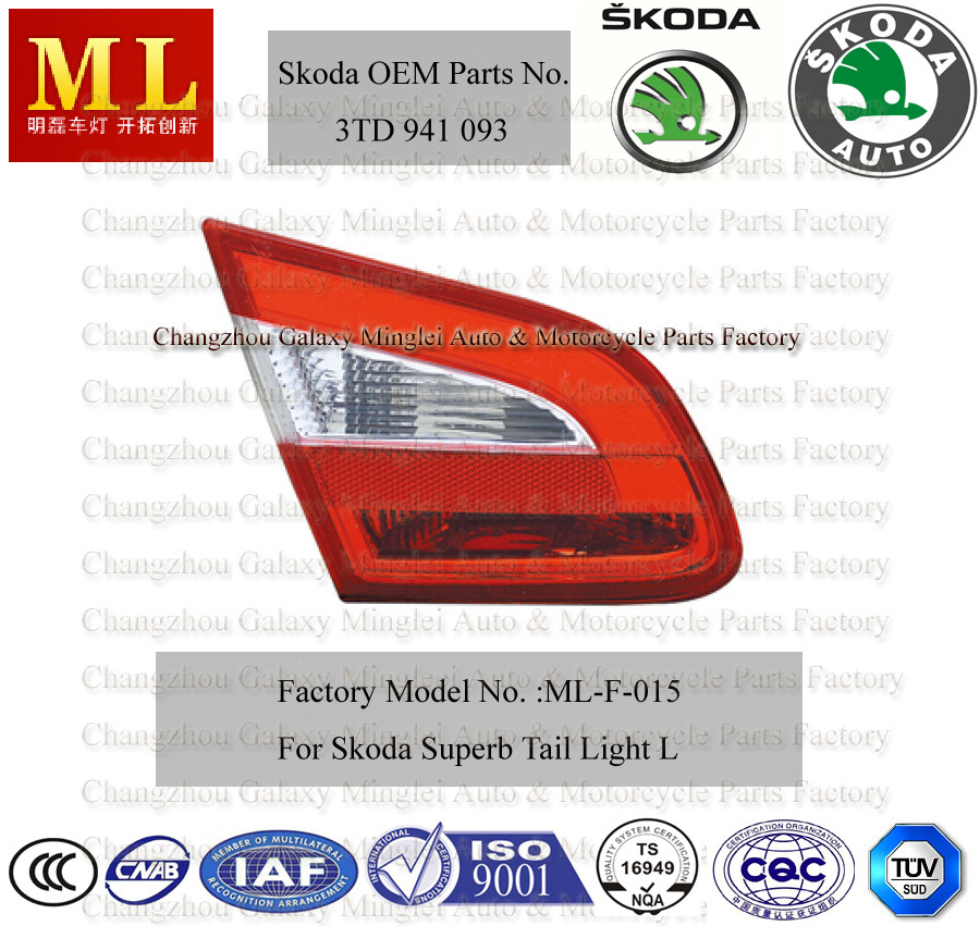 Auto Tail Light for Skoda Superb From 2008 (3TD 945 093)