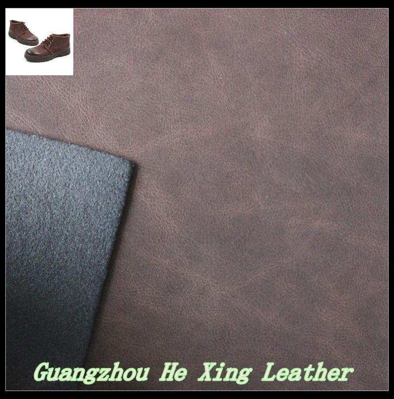 Imitation PU Nubuck Leather for Hand Bag Shoes