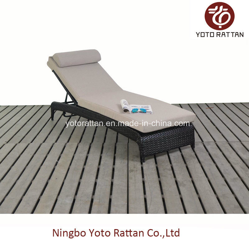 Rattan Lounge Without Wheels in Brown (1116)
