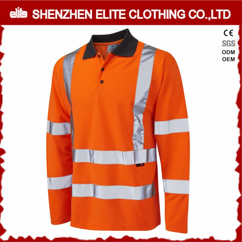 Wholesale Long Sleeve Hi Vis Safety Work Polo Shirts
