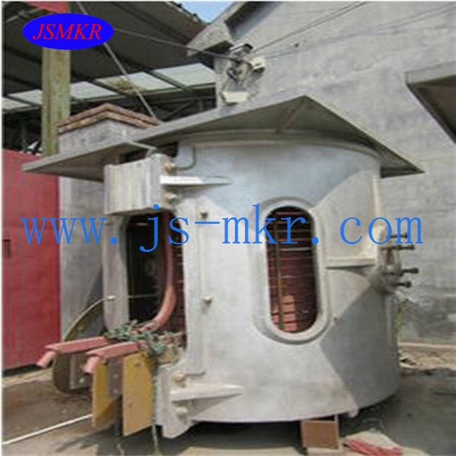 Used Medium Frequency Induction Copper Melting Furnace