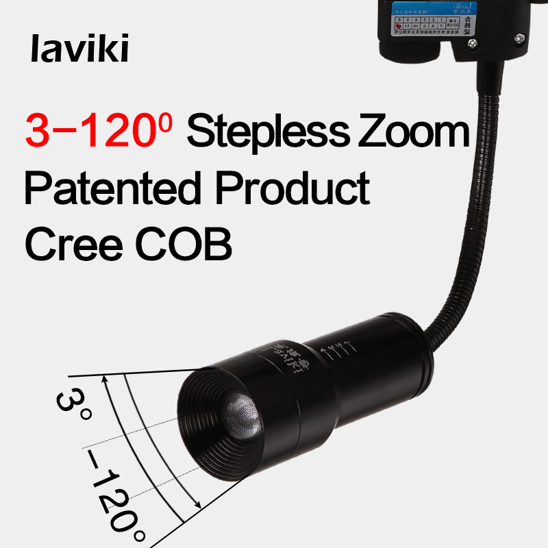 3W 6W LED Focus Zoomable Track Spot Light with Flexible Gooseneck