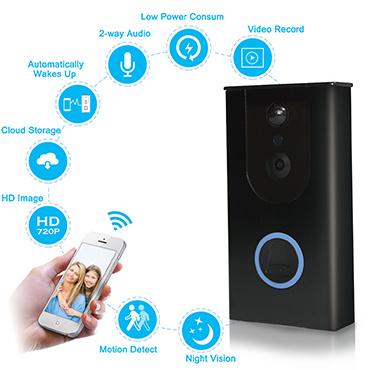 New Smart WiFi Video Doorbells Ring Door Phone with Battery PIR Motion