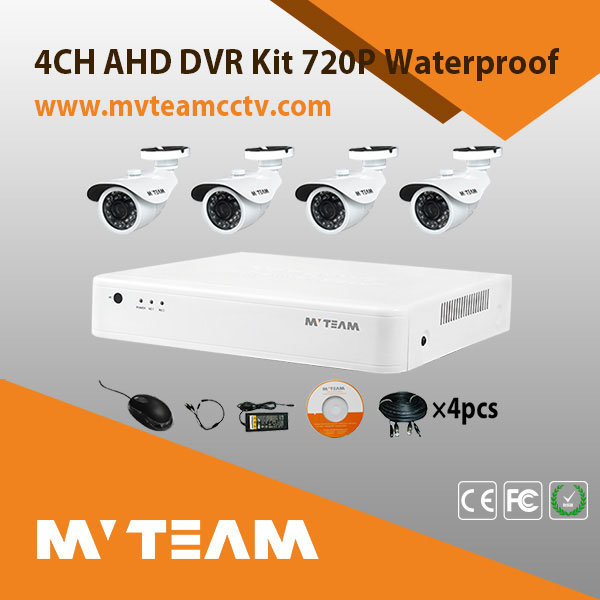 Factory Direct H. 264 4CH DVR Combo DIY CCTV Camera Kit CCTV Cameras System Kits (Mvt-KAH04D)