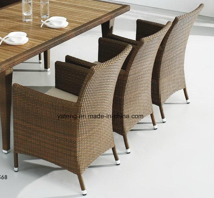 Top Quality Hotel Furniture Chair &Teak Table Set Outdoor Waterproof Dining Set (YTA100&YTD368)